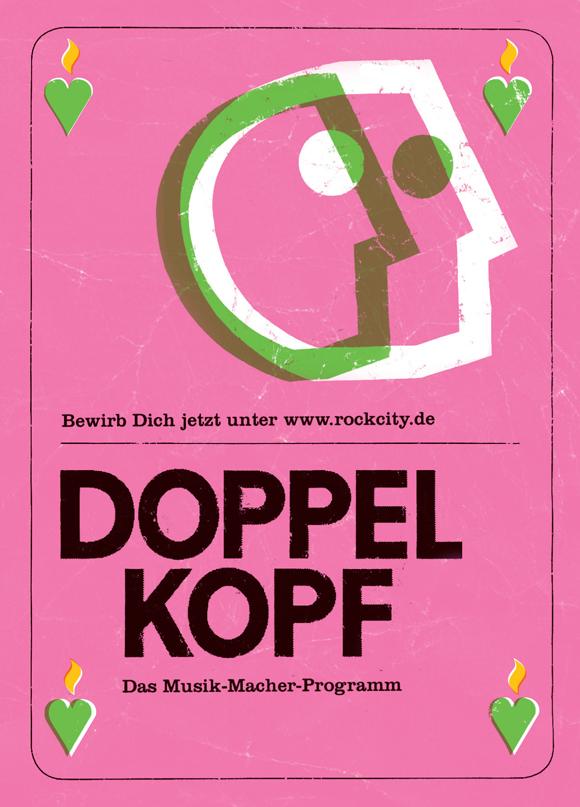 """DoppelKopf""-Mentoring-Programm, Flyer: Ricardo Cortez"
