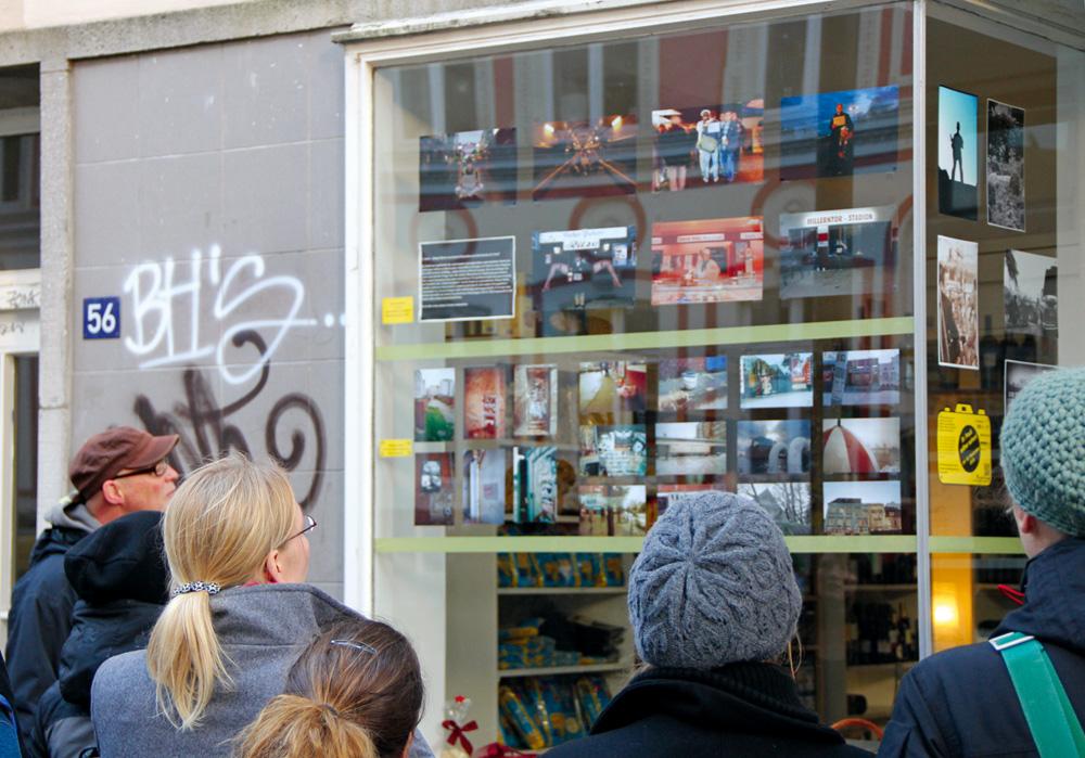 """Ausstellung des Projektes """"St. Pauli  selber sehen"""", Foto: GWA St. Pauli"""