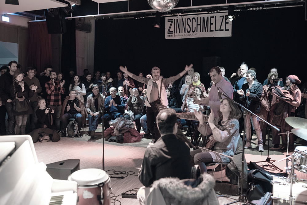 Die Welcome Music Session im Saal der Zinnschmelze, Foto: Lothar Arnemann