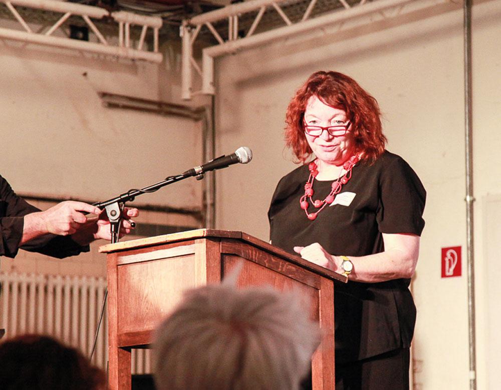 Eleonore Hefner auf der Tagung der Bundesvereinigung, Foto: Mona Wetzel