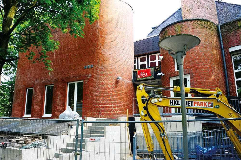 Jetzt noch Baustelle – im September 2017 wird wiedereröffnet, Foto: ella Kulturhaus Langenhorn