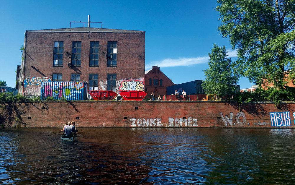 Der Wasserzugang der Schaltzentrale zur Bille, Foto: Dorothee Halbrock