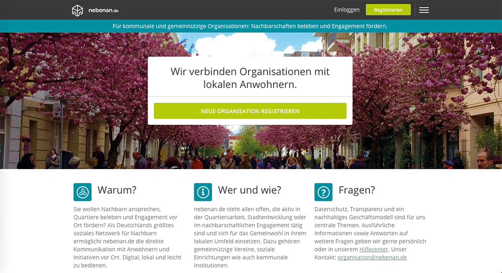 Screenshot: nebenan.de